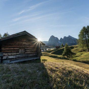 Alba sull'Alpe di Siusi