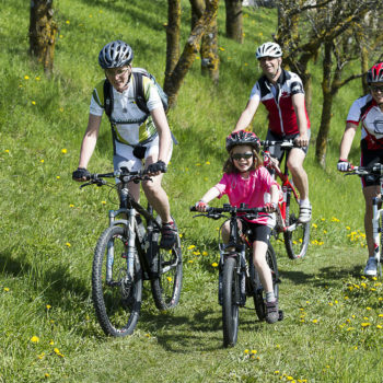 Cycling on the Seiser Alm