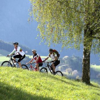 In bicicletta sull'Alpe di Siusi